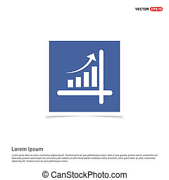 Business graph icon - Blue photo Frame