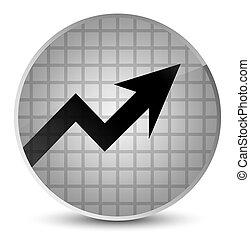 Business graph icon elegant white round button