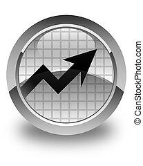 Business graph icon glossy white round button
