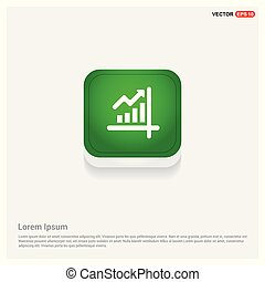 Business graph icon Green Web Button