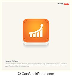 Business graph icon Orange Abstract Web Button