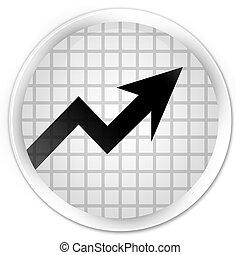 Business graph icon premium white round button
