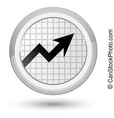 Business graph icon prime white round button