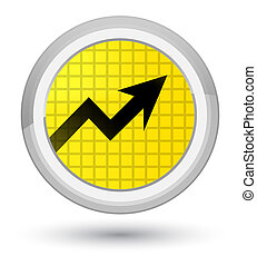 Business graph icon prime yellow round button