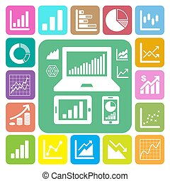 Business Graph icon set