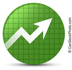 Business graph icon soft green round button