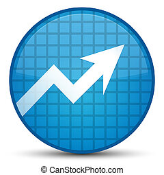 Business graph icon special cyan blue round button