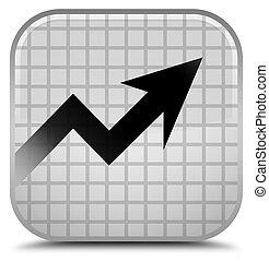 Business graph icon special white square button