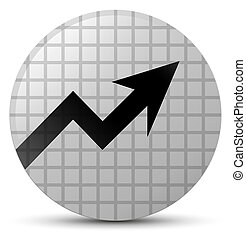 Business graph icon white round button