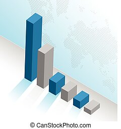 business graph illustration design