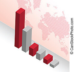 business graph illustration design