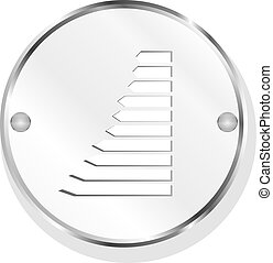 Business graph metal icon