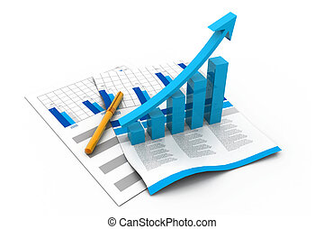 Business graph on chart