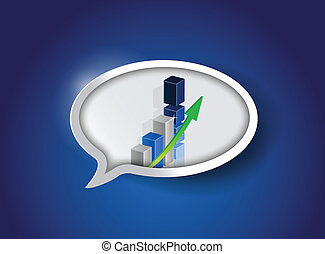 Business Graph On Speech Bubble ,