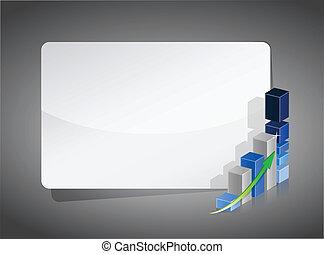business graph presentation board