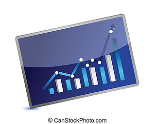 Business Graph presentation on white