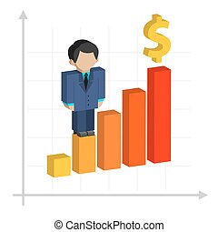 Business graph, profit growth