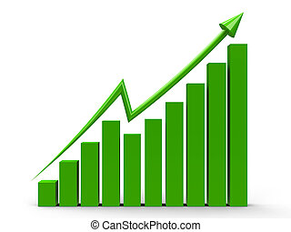 Business graph up #2 - Green business graph with green arrow...
