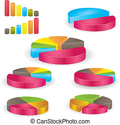 Business graph. Vector Illustration