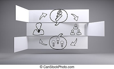Business graphic on abstract background
