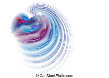 Business Graphic - Red Blue waves