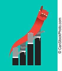 business, graphique, competition., concurrents, croissance, mains, rates.