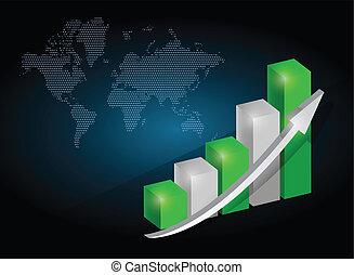 business, graphique, conception, diagramme, illustration