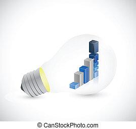 business, graphique, intérieur, illustration, lumière, bulb.