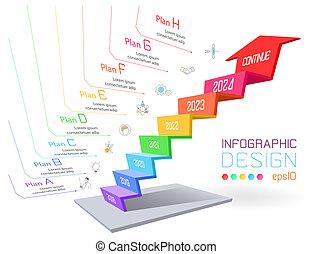 business, graphique, trois dimensionnel, infographic, bar.