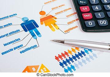 business, graphiques, et, diagrammes