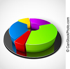 Business graphs - 3d business colorful graphs. Vector...
