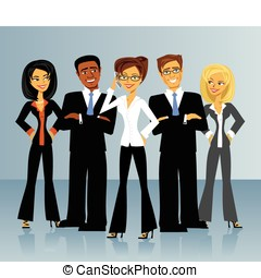 Business Group - A group of business people.