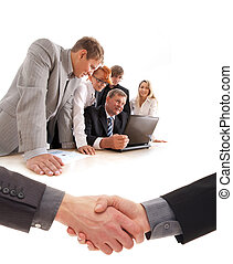 Business group at work