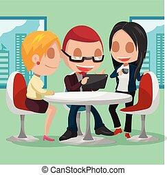 Business Group Cartoon Character