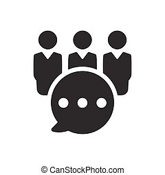 Business Group Discussion Icon