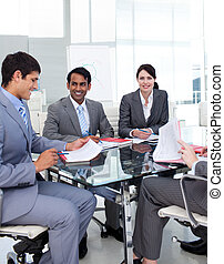 Business group in a presentation