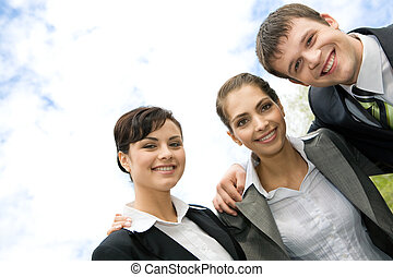 Business group - Portrait of smiling business group of ...
