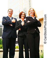 Business Group Showing Ok Sign