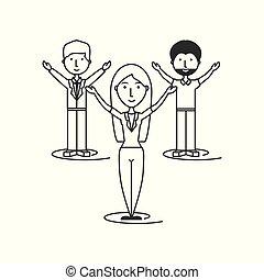 business, groupe, travailler ensemble, gens