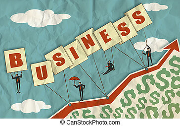 business growth and dollar signs