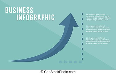 Business growth arrow design style