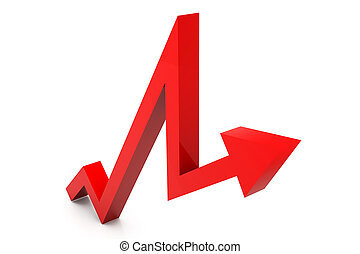 Business growth arrow