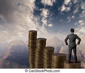 Business growth - Concept of business and money growth