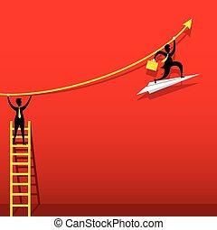 business growth graph design