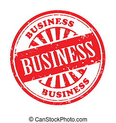 business grunge rubber stamp