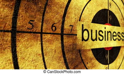Business grunge target concept