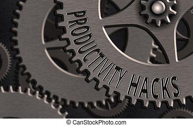 business, hacks., obtenir, conceptuel, fait, plus, écriture...