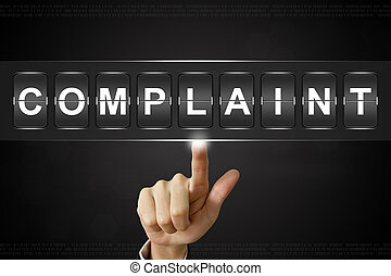 business hand clicking complaint on Flipboard - business ...