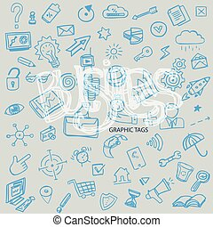 business hand drawn background