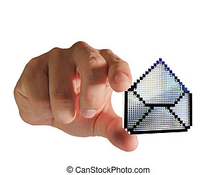 hand picks pixel buttons e-mail icon